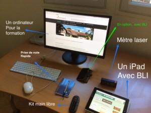 agent mandataire en immobilier avec un ipad